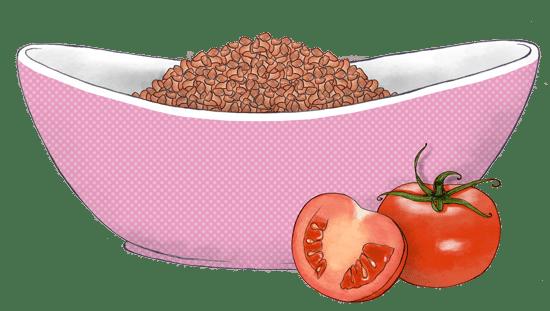 בורגול ברוטב עגבניות