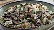 אורז עם פטריות