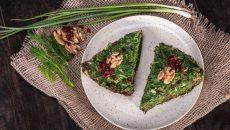 פריטטה פרסית ירוקה, כנראה שאסתר המלכה אכלה מנות כאלה ומנות צמחוניות נוספות בארמון אחשוורוש