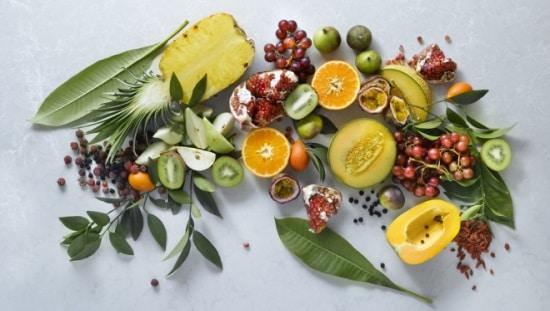 מגוון פירות טריים, מזון חי, רואופוד עשיר באנזימים ומסייע לטיפול במחלות רבות