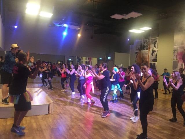 ריקודי זומבה - חלק מפסטיבל אוכלים בריא 3