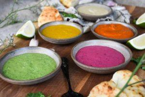 טחינה בצבעים שונים