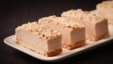 עוגת גבינה טבעונית בשילוב נוגט.