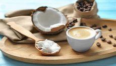שמן קוקוס עם קפה