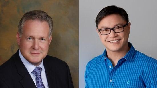 """משמאל לימין: פרופסור רוברט לאסטיג וד""""ר ג'ייסון פאנג"""