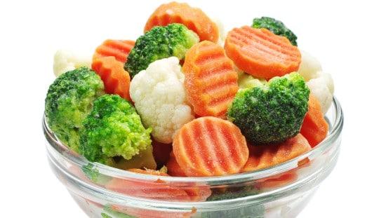 מגוון ירקות קפואים