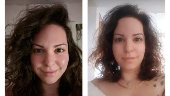 """לפני ואחרי שימוש בתוסף התזונה RICHER. תמונות באדיבות יח""""צ"""