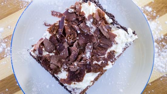 עוגת שוקולד גבינה טבעונית