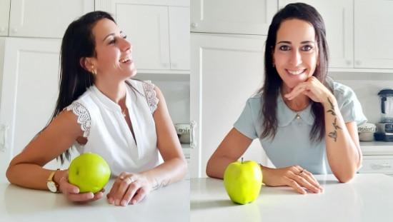 הודיה מלכה על תפוחים ירוקים וניקוי רעלים. צילום: הודיה מלכה