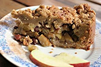 עוגת טחינה ותפוחים